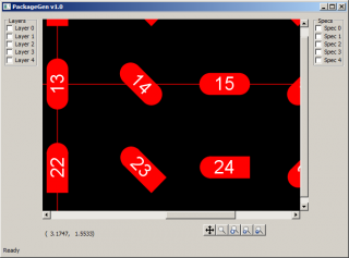 Screenshot of basic PackageGen canvas